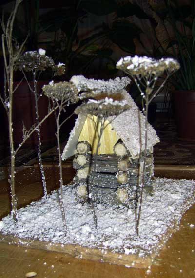 Зимний сад поделки своими руками