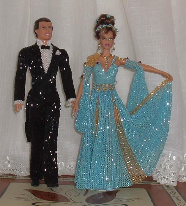 платья для кукол из бисера