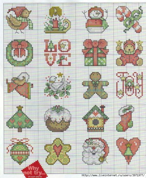 Новогодние вышивки крестом схемы миниатюры