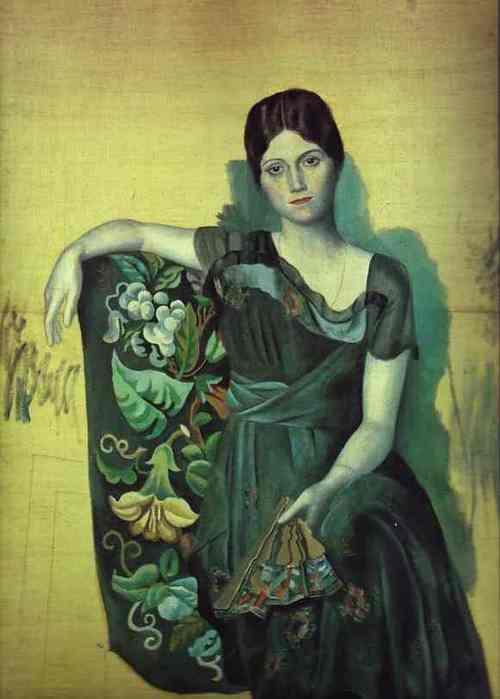 Портрет Ольги в кресле. 1917 г. (Ольга Хохлова) (500x700, 22Kb)