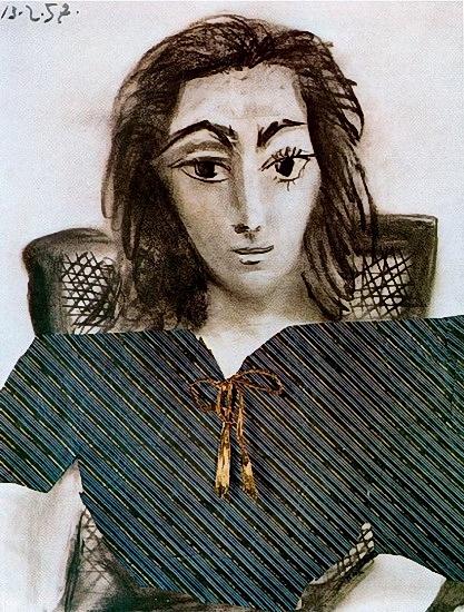 пикассо.Портрет Жаклин Рок. 1957 г (417x550, 273Kb)