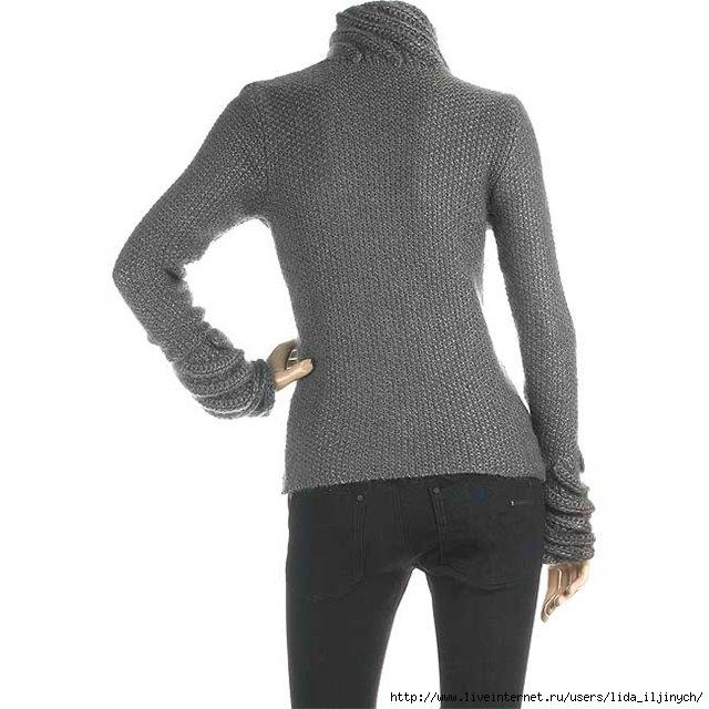 мужской свитер с оленями, схема вязания спицами свитер.