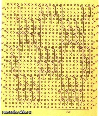 Узоры для цветного вязания крючком.  Образцы, схемы, описание.