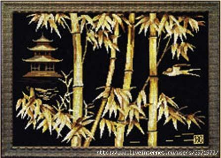 Пагода и бамбук.