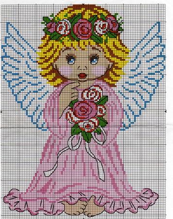 Ангелок в веночке (356x450,