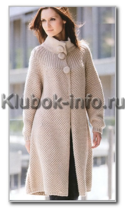 Схемы вязания пальто