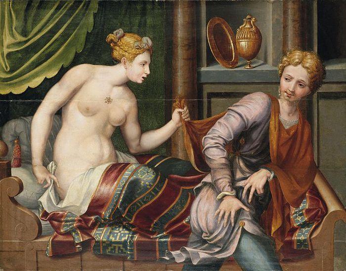 765px-Joseph_und_die_Frau_des_Potiphar_(Schule_von_Fontainebleau) (700x549, 85Kb)