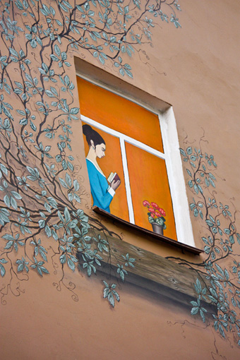незнакомка в окне
