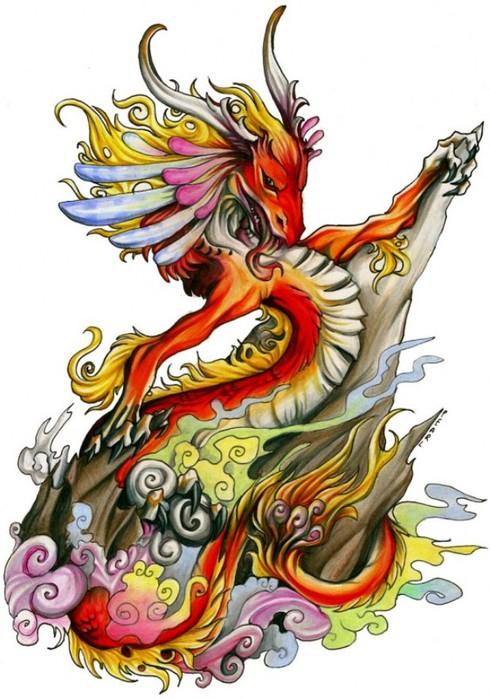 Красивая схема с драконом.
