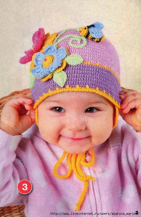 Самые легкие вязание детских шапочек