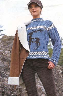 Вязание свитера, пуловера, джемпера для женщин. Схемы, МК 27
