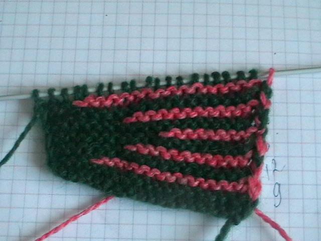 вязание чепчика на спицах.
