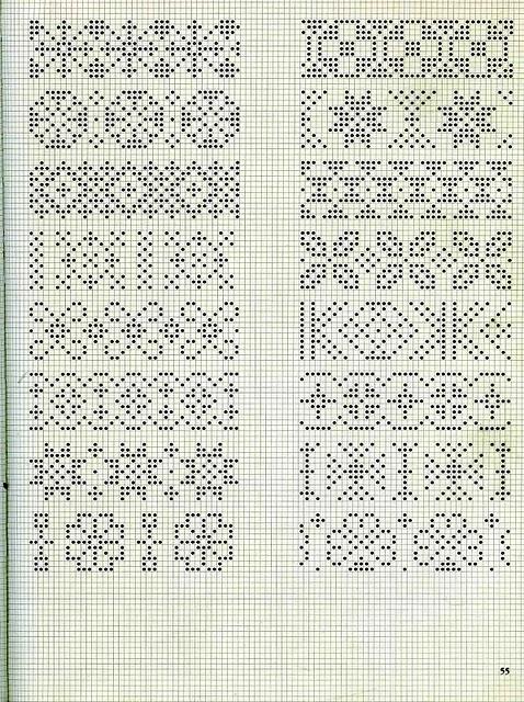 Орнаменты для вязания свитеров 12
