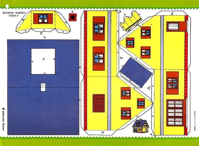 схема дома бумажного - Схемы.
