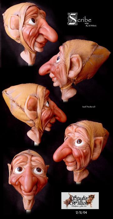 Как сделать куклу из полимерой  глины.