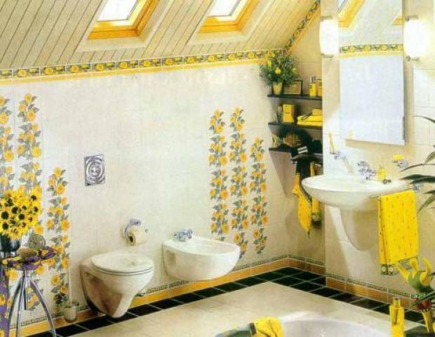 ...Стены выполните в экзотическом варианте - это могут быть такие растения, как пальма и кактус, а могут быть и образы.