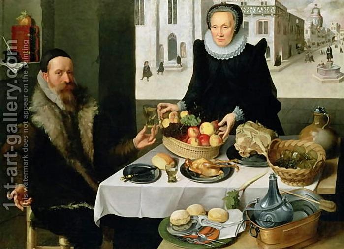 Lucas van Valckenborch . Double Portrait of an Elderly Couple (700x507, 266Kb)