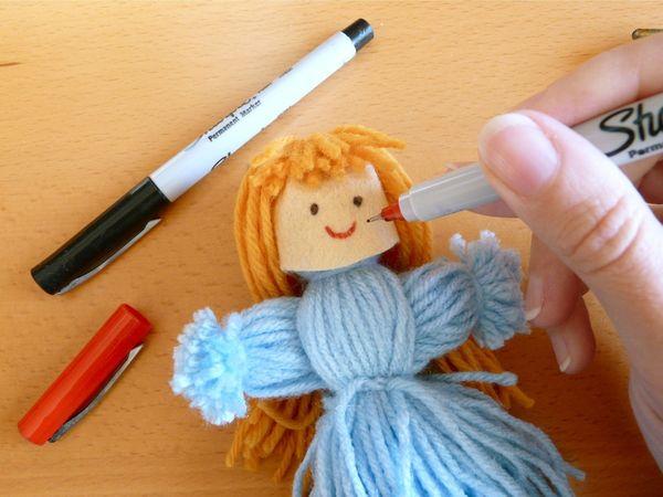 Куклы своими руками из ниток фото