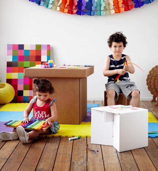 схемы и выкройки мебель из картона.