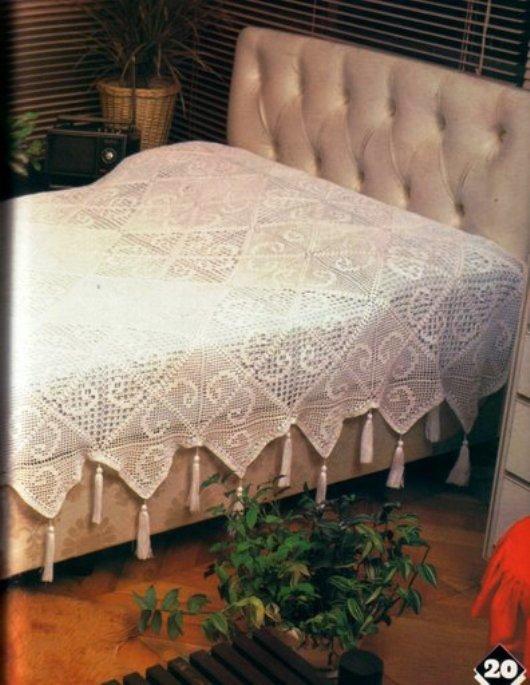 Покрывало на кровать вязание 62