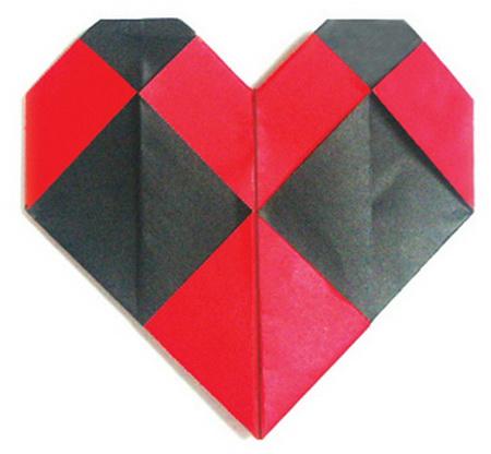 сердце оригами из бумаги,как сделать сердце оригами,оригами сердечко из бумаги,бумажные сердечки,идеи ко дню святого валентина/4395419_origami_heart11 (450x416, 49Kb)