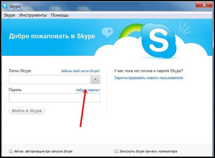 Как открыть скайп если забыли пароль.