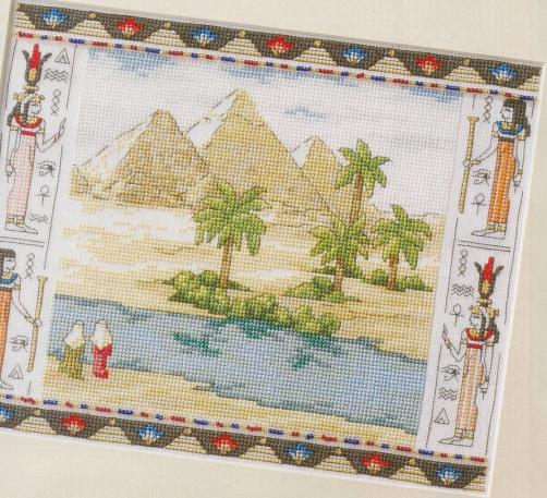 Пирамиды. Вышивка крестом
