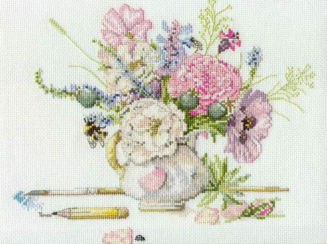 Схема вышивки в пастельных тонах 93