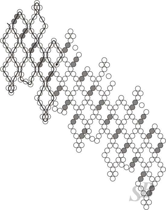 Колье. схема вязания