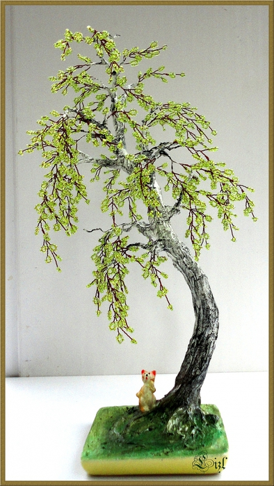 как плести деревья из бисера,и разные стихи. всем приветик.