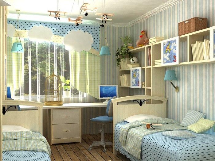 Дизайн комната для двух мальчиков