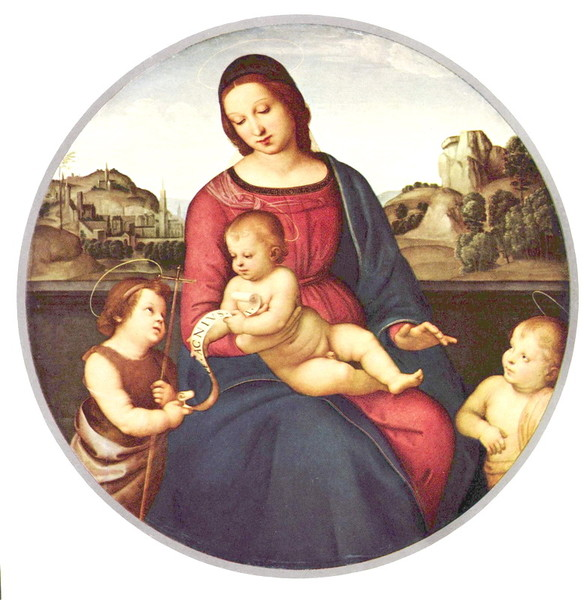 Raffael_Santi_Madonna_Terranuova_Mary_with_Child_and_Two_Holys_gallery_b (584x600, 91Kb)