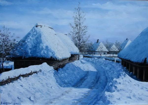 Русская зима в живописи.