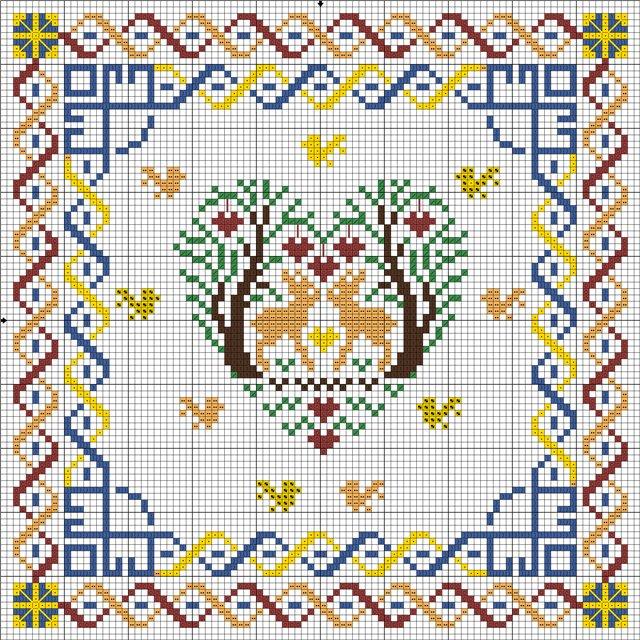 Кубышка схема вышивки крестом 10