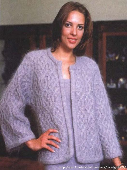 Вязание из мохера спицами для женщин оригинальные модели
