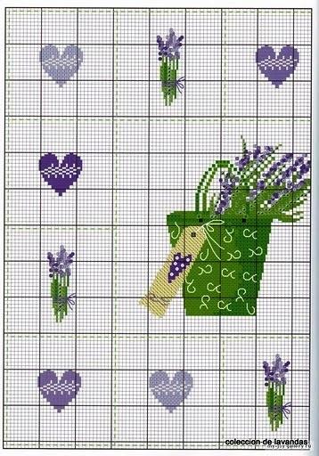 Схема вышивки лаванды.