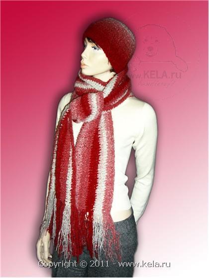 Вязание шарфа крупной вязкой