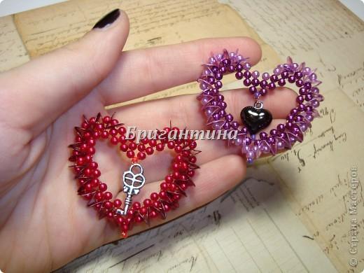 Плетения сердечек валентинки