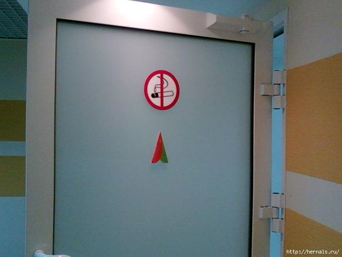 дверь в женский туалет