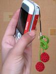 Брелок яблочки (шарики из бисера) своими руками подвески для сотового телефона, лески 0,2мм с помощью бисерной иглы и...