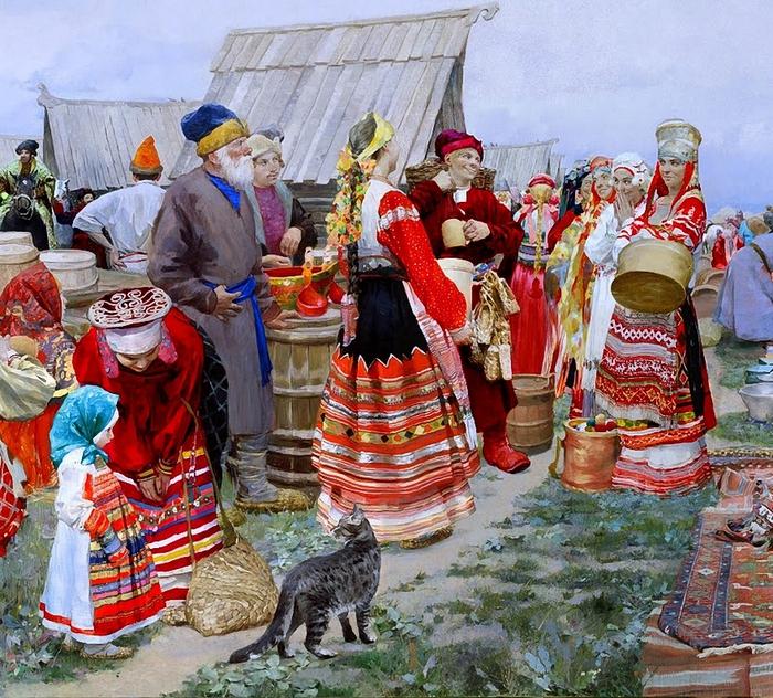 Долгая Ольга Петровна Свенская ярмарка (700x632, 447Kb)