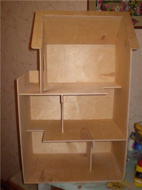 Как построить кукольный домик своими руками из фанеры