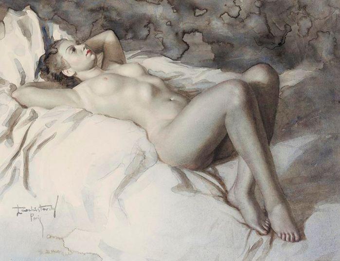 Женщины картина голая на кровати