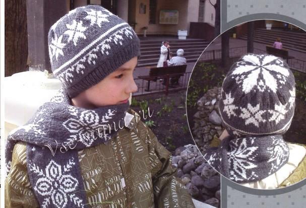4683827_20111229_223514 (607x412, 93Kb) Шапочка и шарфик с орнаментом -для подростка