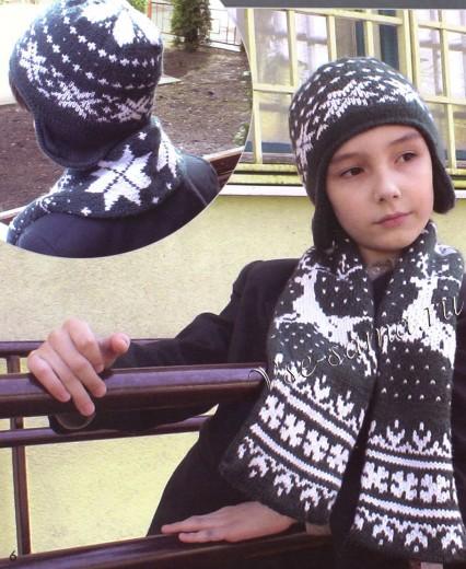 4683827_20111229_223007 (426x520, 80Kb) Шапочка и шарфик с орнаментом-для подростка