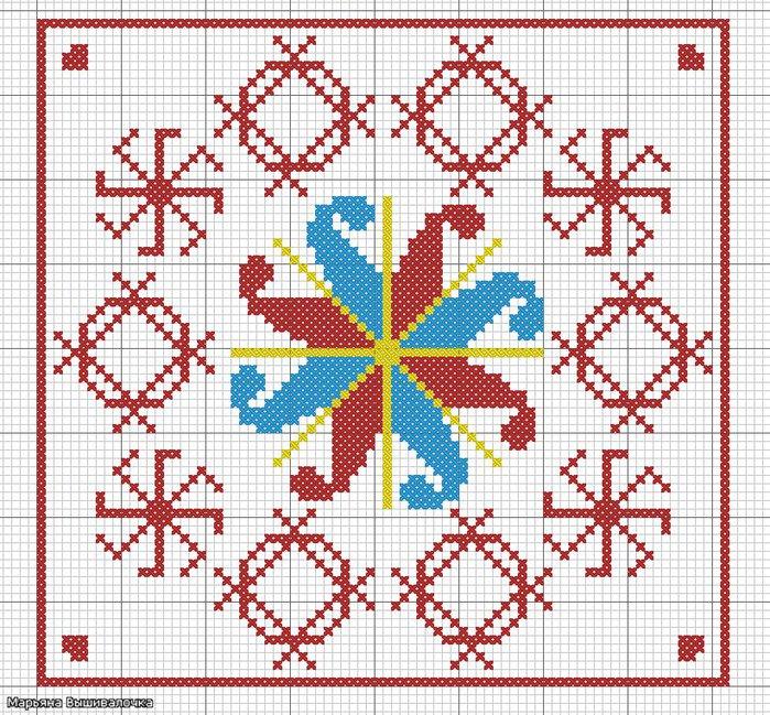 Вышивка крестиком оберегов схемы 62
