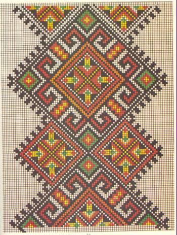 Вышивки крестом геометрических узоров