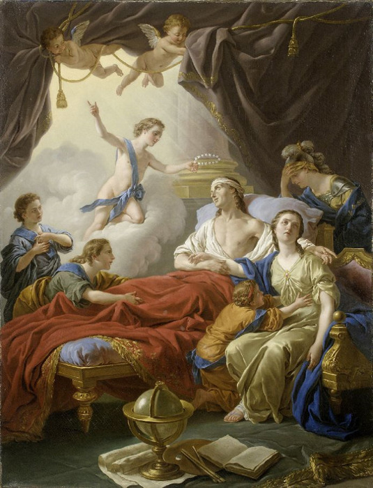 ������� ��� ��� ������� - Allegory On The Death Of The Dauphin 1765 (535x700, 140Kb)