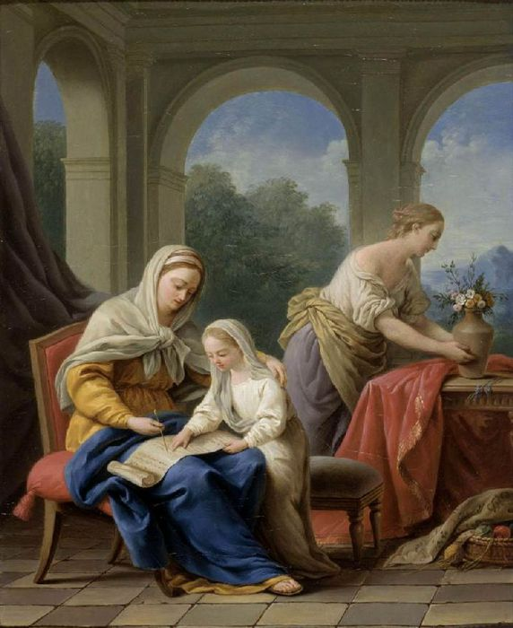 ������� ��� ��� ������� - The Education Of The Virgin  C. 1772 (572x700, 62Kb)