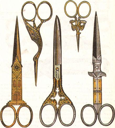 Старинные ножницы. (439x488, 41Kb)